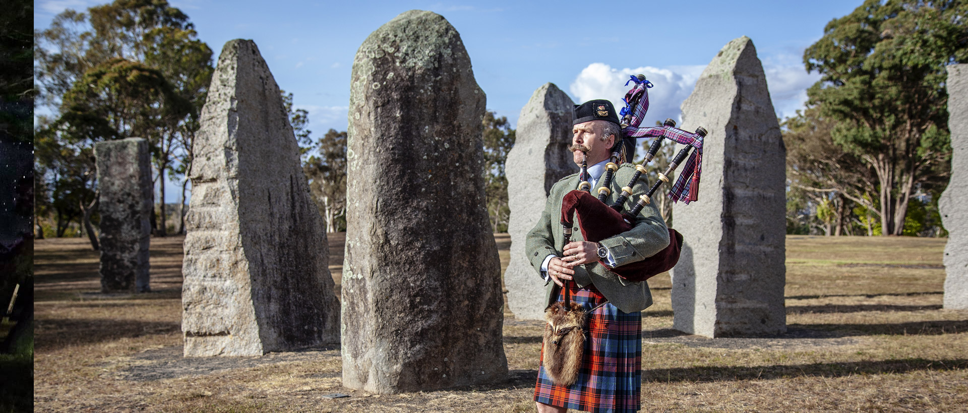 bagpipes at the Standing Stones